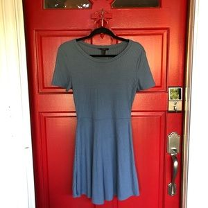 NWT Stunning Dusty Blue Forever 21 Skater Dress
